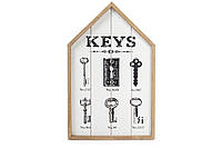 Ключница деревянная (6 крючков