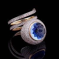 Эксклюзивное кольцо с фианитами