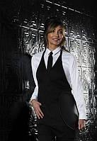 Фартук официанта з V-подобным вырезом Dickies Chef DC53, цвет: черный, одежда для официантов