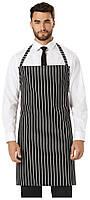 Фартук официанта Dickies Chef DC54, цвет: черный в белую полоску, одежда для официантов