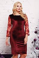 Платье (48-50, 52-54) —бархат купить оптом и в розницу в одессе  7км
