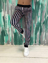 """Бархатные женские спортивные штаны в полоску """"Rioden"""" с карманами (3 цвета), фото 2"""