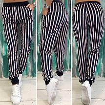 """Бархатные женские спортивные штаны в полоску """"Rioden"""" с карманами (3 цвета), фото 3"""