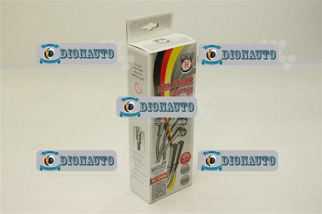 Провода высокого напряжения 405, 406, 409 двигатель (с наконечниками) HORT HC10406 силикон (бронепровода) ГАЗ-2705 (дв. ЗМЗ-406) (406-3707080)