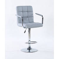 Кресло парикмахерское HOKER HC1015WP серый