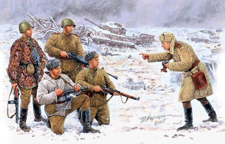 Russian infantry, Korsun-Shevchenkovskiy, 1944. 1/35 MB3529, фото 2