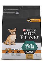 Purina Pro Plan Про План Adult Small Mini Optibalance Корм для взрослых собак мелких пород с курицей, 3 кг