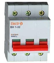Выключатель нагрузки  ВН1-32 3 полюса 100A 230B/400B