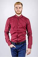 Рубашка мужская марсала цвет 222F082