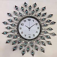 Часы металлические со стразами 70см