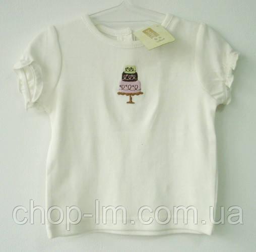 """Футболка """"Торт"""" для девочки Crazy8 (футболка для дівчинки 6-12 місяців)"""