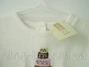 """Футболка """"Торт"""" для девочки Crazy8 (футболка для дівчинки 6-12 місяців), фото 2"""