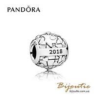 Pandora КЛУБНЫЙ ШАРМ 2018 796602D серебро 925 Пандора  оригинал