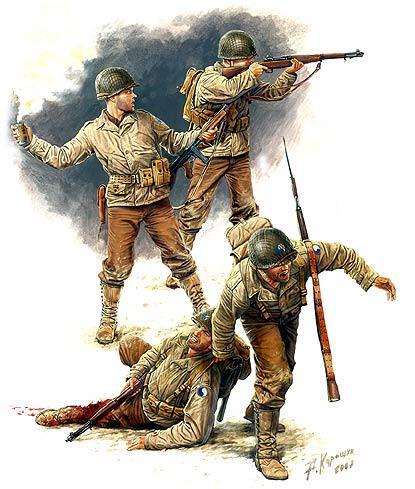 Американская пехота. Европа, июль 1944 год. 1/35 MASTER BOX 3521