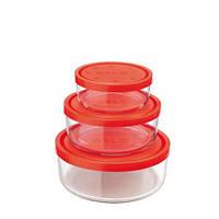 """Набор стеклянный лотков для продуктов (3 шт.)  BORMIOLI ROCCO """"GELO"""""""