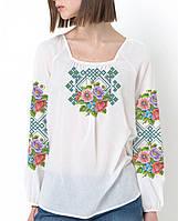 Заготовка вишиванки жіночої сорочки та блузи для вишивки бісером Бисерок « Польові Квіти» (Б ff59f357ec700