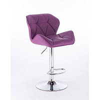 Кресло парикмахерское HOKER HC-111W фиолетовый