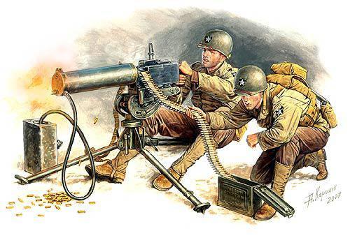 Американские пулеметчики. Европа 1944г. 1/35 MASTER BOX 3519, фото 2