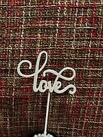 Топпер Love 1, на день влюбленных, в торт, фото 1