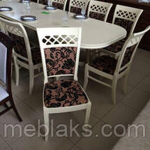 """Стул обеденный """"Венеция"""" (орех, бежевый, белый) для кухни Fusion Furniture, фото 3"""