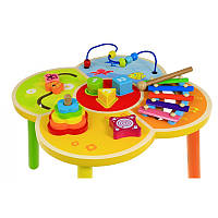 BABY MIX Деревянный столик развивающий в коробке