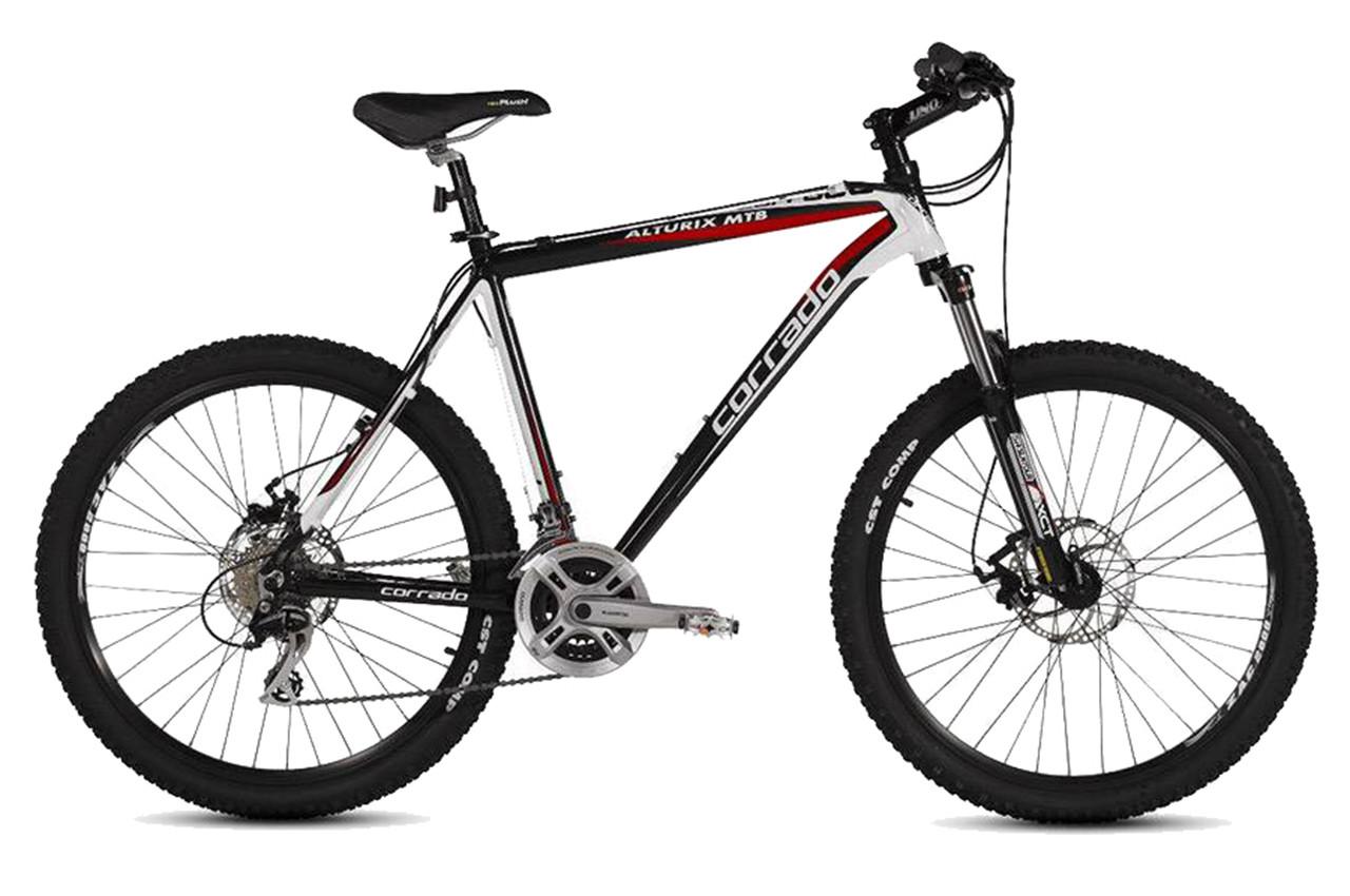 """Горный велосипед Corrado ALTURIX 26"""" алюминиевый, Черно-белый"""