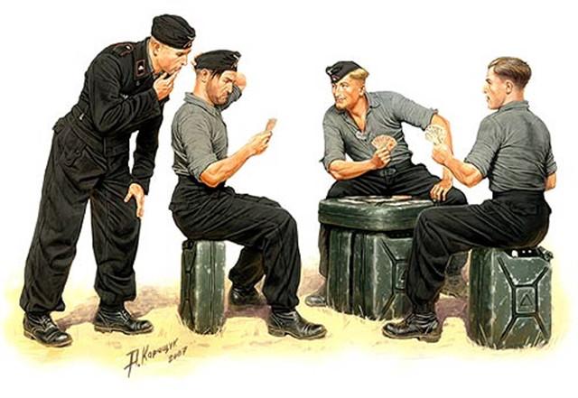 Немецкие танкисты на отдыхе. 1/35 MASTER BOX 3525