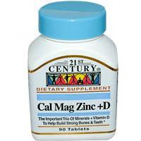 Кальций Магний Цинк + D3, 21st Century Health Care, 90 таблеток