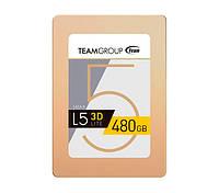 """SSD диск 480 Gb, Team L5 Lite 3D, SATA 3, 2.5"""", 3D TLC, 470/420 MB/s (T253TD480G3C101), твердотельный накопитель ссд 480 Гб для ноутбука и ПК"""