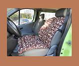 Накидка на автомобільне крісло масажне наповнювач - лушпиння гречки, сатин Голд, фото 2