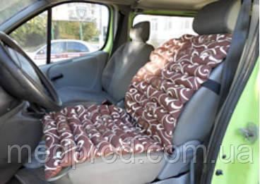 Накидка на автомобільне крісло масажне наповнювач - лушпиння гречки, сатин Голд