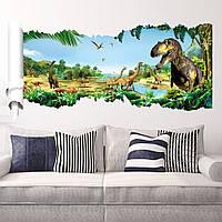 """Фотообои на стену виниловые, виниловая наклейка """"Динозавры"""""""