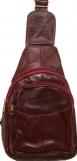 Кожаная сумка-рюкзак (бордо)20*22см