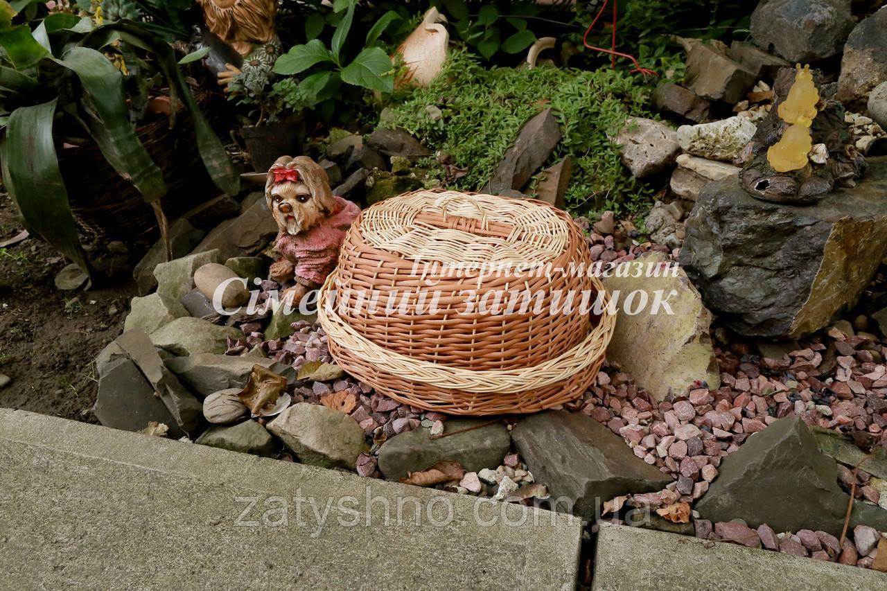 Хлебница плетеная светло коричневая