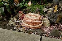 Хлебница плетеная светло коричневая, фото 1