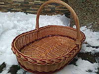 Плетеная корзина из цельной лозы