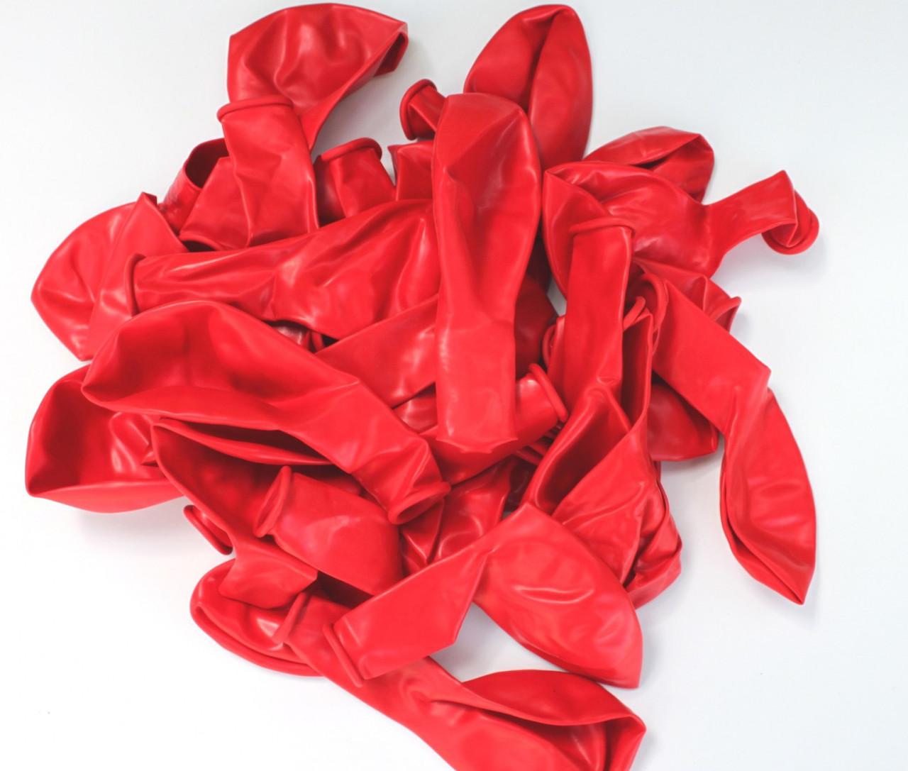 Повітряна куля червоного кольору пастель 26 див./ в уп. 10 шт.