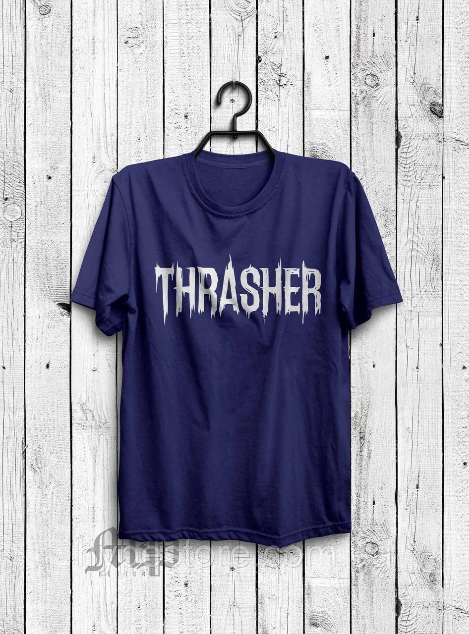 Хайповая мужская футболка Thrasher (темно-синий), Реплика
