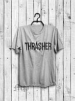Хайповая мужская футболка Thrasher (серый)