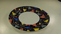 Тарелка бумажная ламинированая 18см рисунок Коричневая  50шт (1 пач)