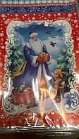 Фольгированный пакет Н.Г (25*40) №11 Дед Мороз с зайчем (100 шт)