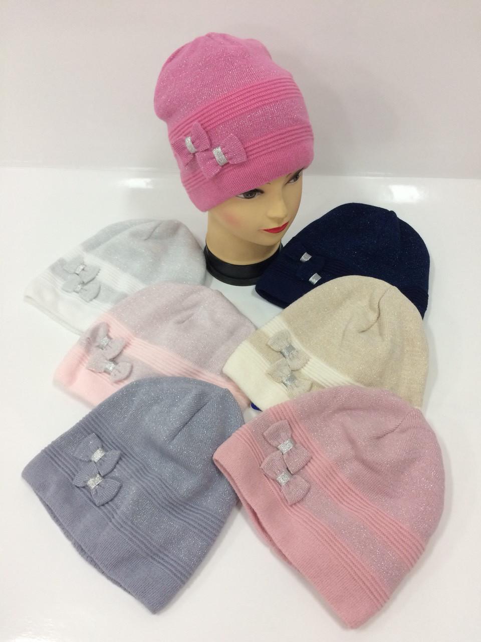 Детские вязаные шапки только оптом для девочек d60abcb7a544c
