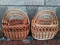 Плетеный пасхальный набор корзин из цельной лозы 4шт