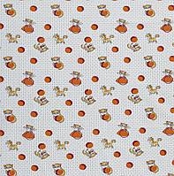 Ситец детский Котята оранжевый