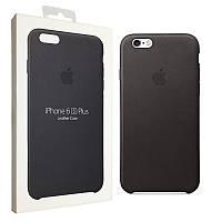 Чехол Apple для iPhone 6/6s Plus Leather Case Black (MKXF2ZM/A), фото 1