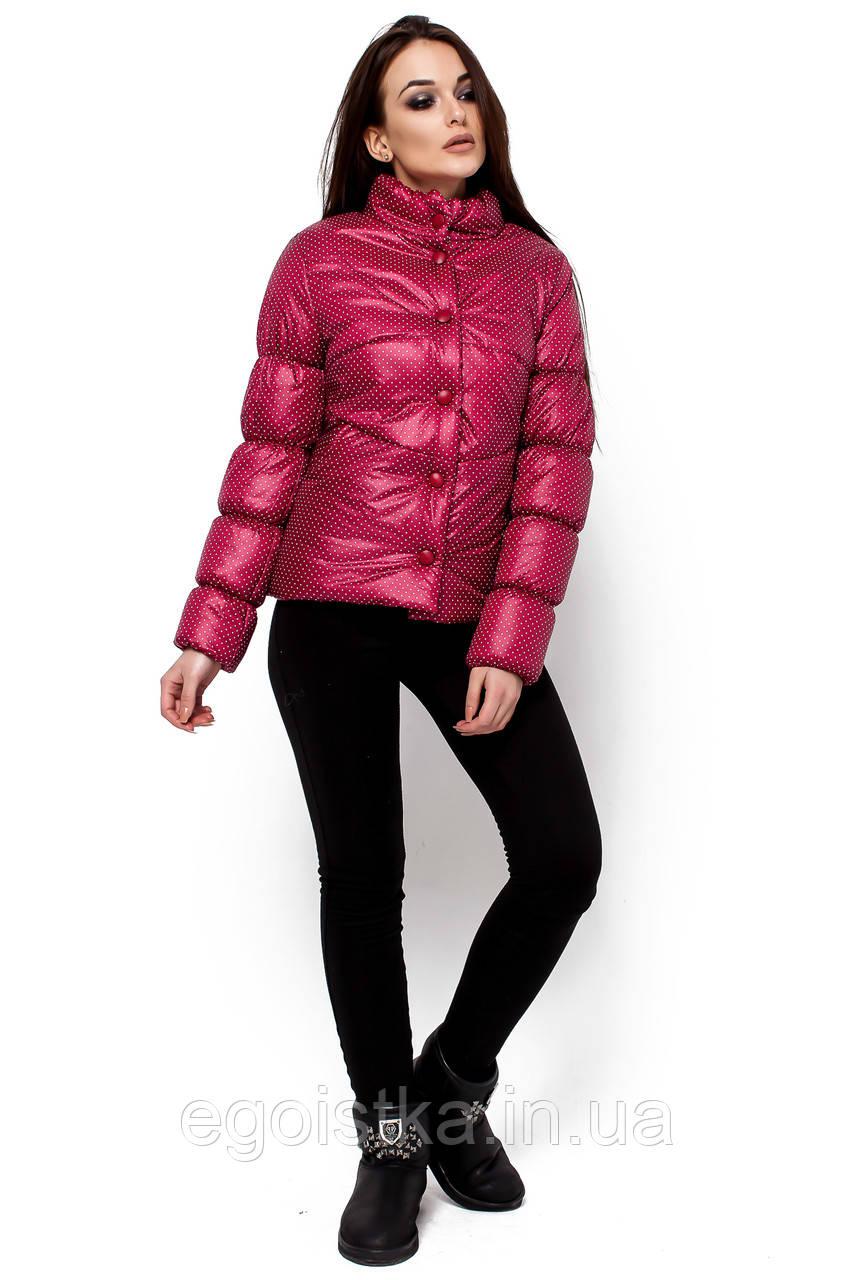 Демисезонная короткая красная куртка в размере S, фото 1