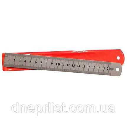 Лінійка металева, 20 см, фото 2