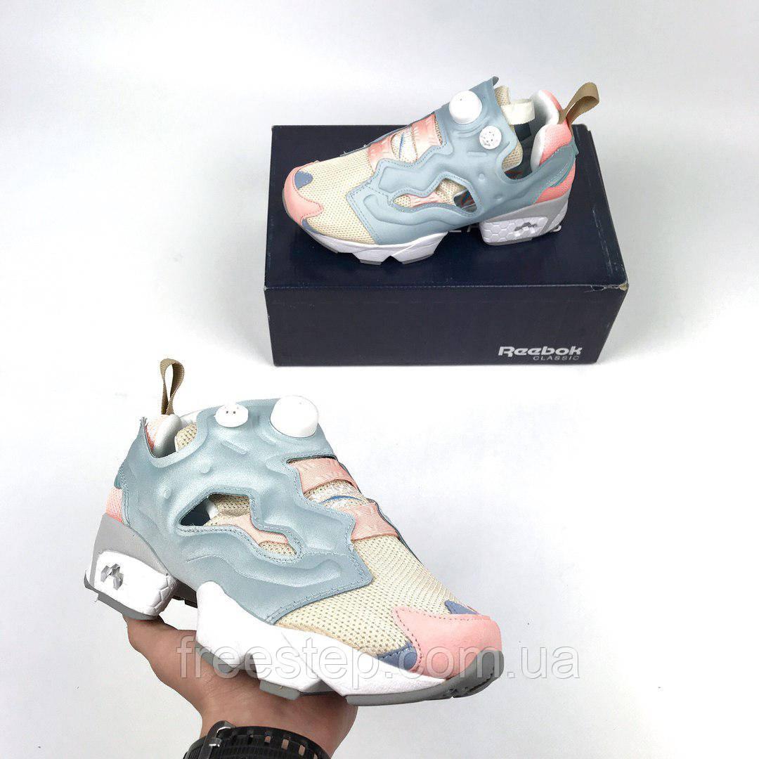 Женские кроссовки в стиле Reebok Insta Pump Fury Blue Cream  продажа ... f10f78dc11d19