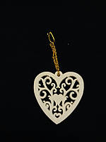 Сердце на цепочке плоское, на день влюбленных, фото 1