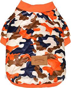 Куртка ХАНТЕР для собак, размеры S, M, L, XL, хаки /оранжевый